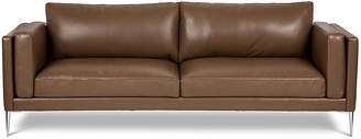 "One Kings Lane Arlo 93"" Sofa - Brown Leather"