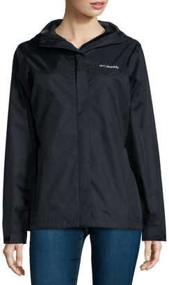Columbia Grey Skies Long-Sleeve Waterproof Rain Jacket $59.99 thestylecure.com