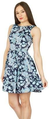 Izabel London Multicoloured Printed Fit & Flare Dress