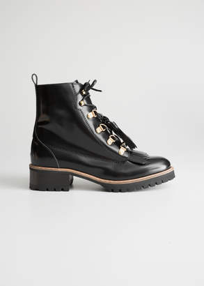 And other stories Tassel Lace Up Boots