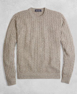 Brooks Brothers Golden Fleece 3-D Knit Cashmere Cable Sweater