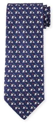 Salvatore Ferragamo Golf Elephant Silk Tie