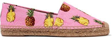 Dolce & Gabbana - Printed Brocade Espadrilles - Baby pink