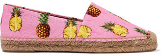 Dolce & Gabbana - Printed Brocade Espadrilles - Baby pink $495 thestylecure.com