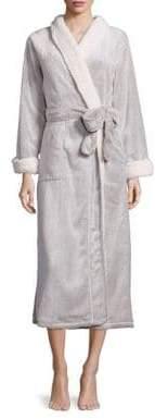 Natori Faux Shearling-Trimmed Robe