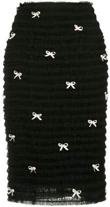 Tu Es Mon Trésor ribbon-embellished pencil skirt