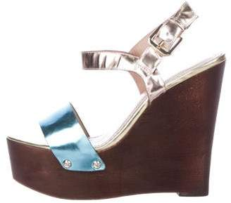 Jean-Michel Cazabat Metallic Platform Wedges