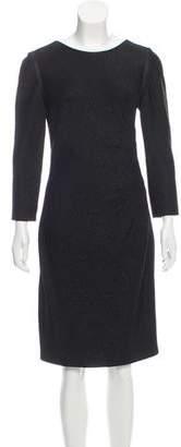 Carmen Marc Valvo Metallic K-nee Length Dress