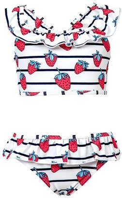 Snapper Rock Toddler Strawberry Ruffle Set