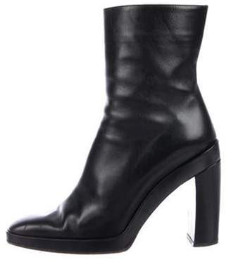 Gucci Leather Square-Toe Boots Black Leather Square-Toe Boots