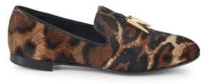 Giuseppe Zanotti Dyed Calf Hair Leather Smoking Slippers