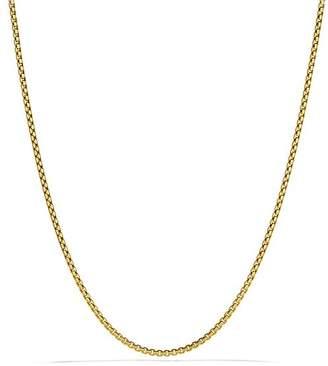 """David Yurman Small Box Chain in Gold, 32"""""""