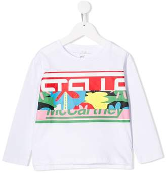 Stella McCartney logo stripe long sleeved shirt