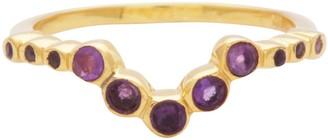 Carousel Jewels Amethyst V Shaped Ring