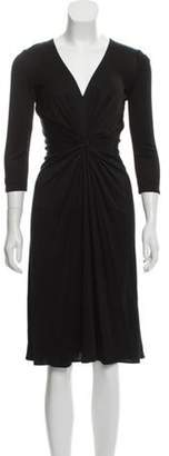 Issa Silk Knee-Length Dress Black Silk Knee-Length Dress
