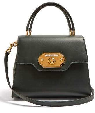 Dolce & Gabbana Welcome Leather Bag - Womens - Dark Green