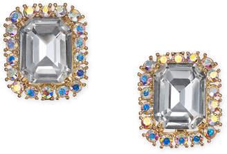 Kate Spade Gold-Tone Crystal & Stone Square Stud Earrings