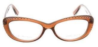 Jimmy Choo Embellished Cat-Eye Eyeglasses
