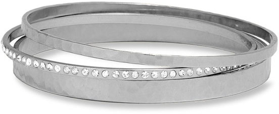 Nordstrom Hammered & Pavé Bangles (Set of 3)