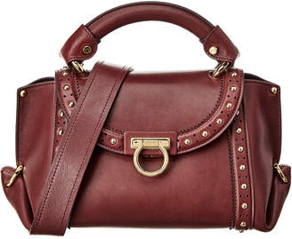 Salvatore Ferragamo Carrie Small Top Handle Leather Shoulder Bag ab99098d1cb32
