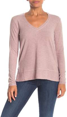 H By Bordeaux Exposed Seam V-Neck Sweater