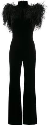16Arlington Feather-trimmed jumpsuit
