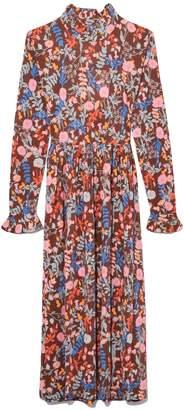 Stine Goya Clarabelle Dress in Flowers Mocha