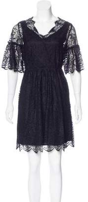 Robert Rodriguez Lace Mini Dress