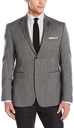 Original Penguin Men's Two Button Slim Fit Donegal Blazer, Grey