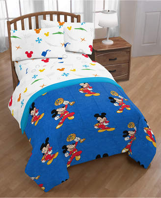 Disney Junior Mickey Mouse Roadster Racer Trophy 4-Pc. Twin Bed in a Bag Bedding