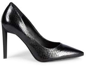 KENDALL + KYLIE Olivia Snake-Skin Print Leather Stiletto Pumps