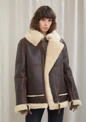 Acne Studios Leather and Shearling Velocite Jacket