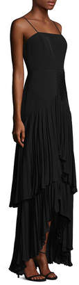 Laundry by Shelli Segal Tiered Pleated Gown