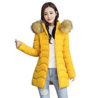 Pervobs Women Parkas&Down Jacket Pervobs Clearance Sale! Women Winter Warm Down Jackets Coat Elegant Hooded Slim Thick Parka Jacket Long Overcoat