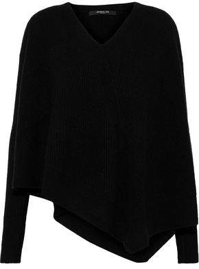 Derek Lam Asymmetric Ribbed Cashmere And Silk-Blend Sweater