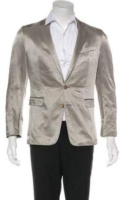 Dries Van Noten Satin Two-Button Blazer