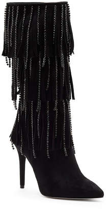Jessica Simpson Linko Fringe Tall Dress Boots Women's Shoes