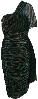 Marco De Vincenzo metallic pleated dress