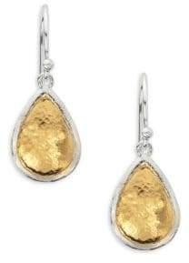 Gurhan Amulet 24K Gold-Plated & Sterling Silver Pear Drop Earrings