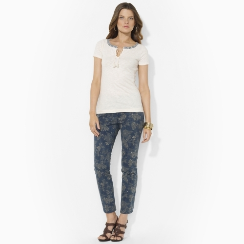 Ralph Lauren Floral Straight Ankle Jean
