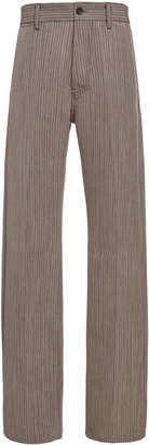 Marni Wide Leg Striped Trouser
