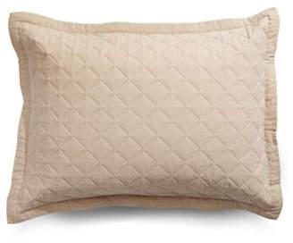 Martha Stewart Broadstitch Linen-Cotton Pillow Sham