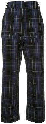 Ports 1961 checked straight trousers