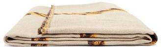 BEIGE Serapis Maritime - Rope Cotton Jacquard Blanket White