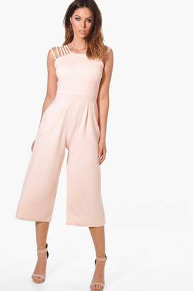 boohoo Alaia Strappy Detail Culotte Jumpsuit