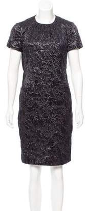 Saint Laurent Knee-Length Textured Dress