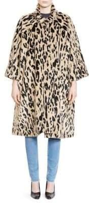 Balenciaga Velvet Leopard Coat