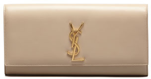 Saint Laurent Cassandre Clutch Bag, Off White
