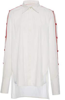 Monse Raglan Sleeve Snap Shirt