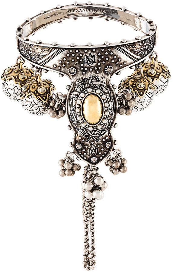Alexander McQueenAlexander McQueen hand jewelled bangle